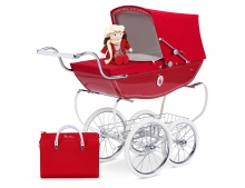 HOLLY DOLLS PRAM RED